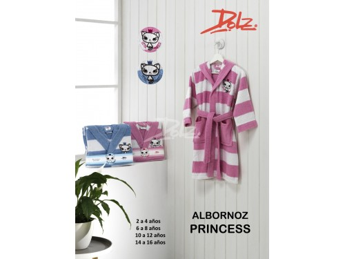 Albornoz Infantil Bordado PRINCESS