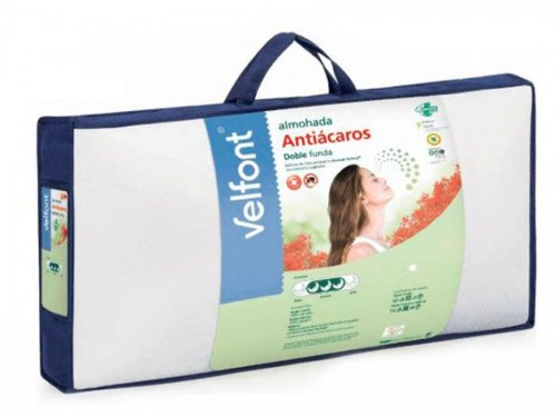 Almohada Doble Funda ANTIÁCAROS