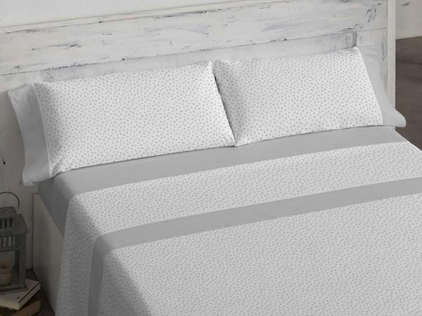 Juego Sabanas 100% algodón CLARO DE LUNA 608