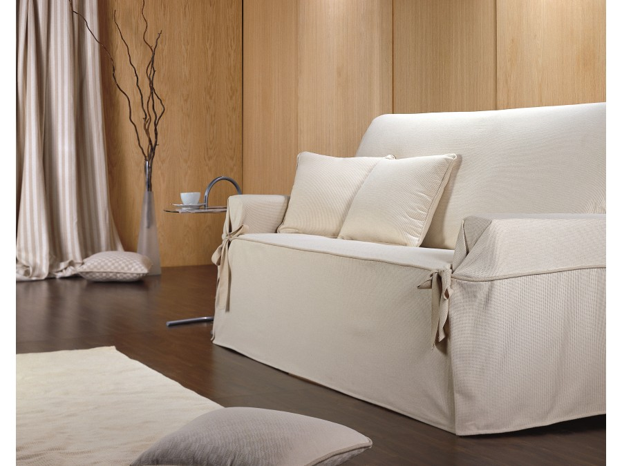 Funda Sofá Universal Eysa PUNTILLA |Fundas de sofá con lazos