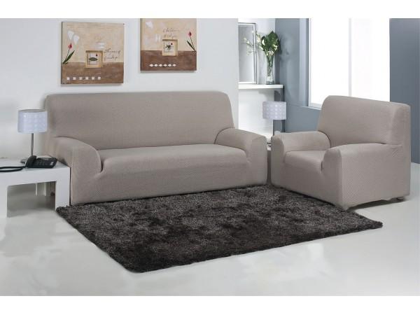 Funda sof multiel stica carla nueva textura fundas sof - Fundas sofas ajustables ...
