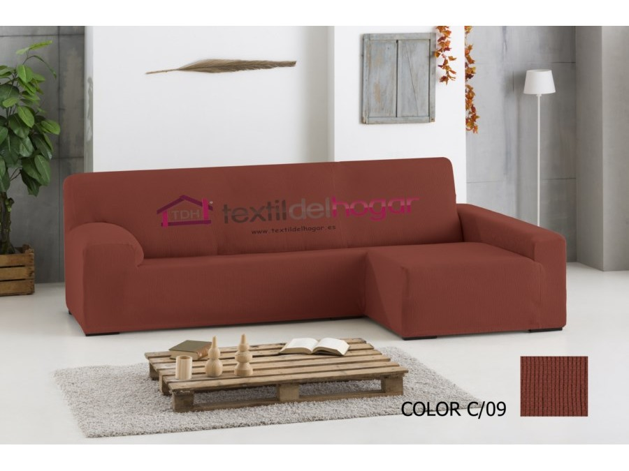 Funda chaise longue el stica ulises fundas de sofa textidelhogar - Fundas de sofa con chaise longue ...