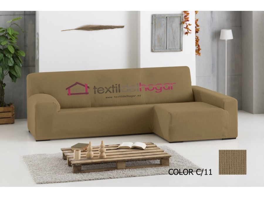Funda chaise longue el stica ulises fundas de sofa textidelhogar - Funda de sofa chaise longue ...