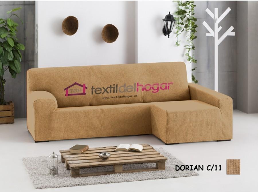 Funda chaise longue bielastica dorian fundas de sofa textidelhogar - Funda para sofa chaise longue ...