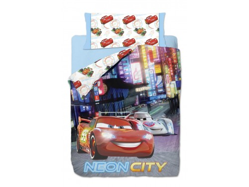 Funda Nórdica Reversible Cars NEON CITY