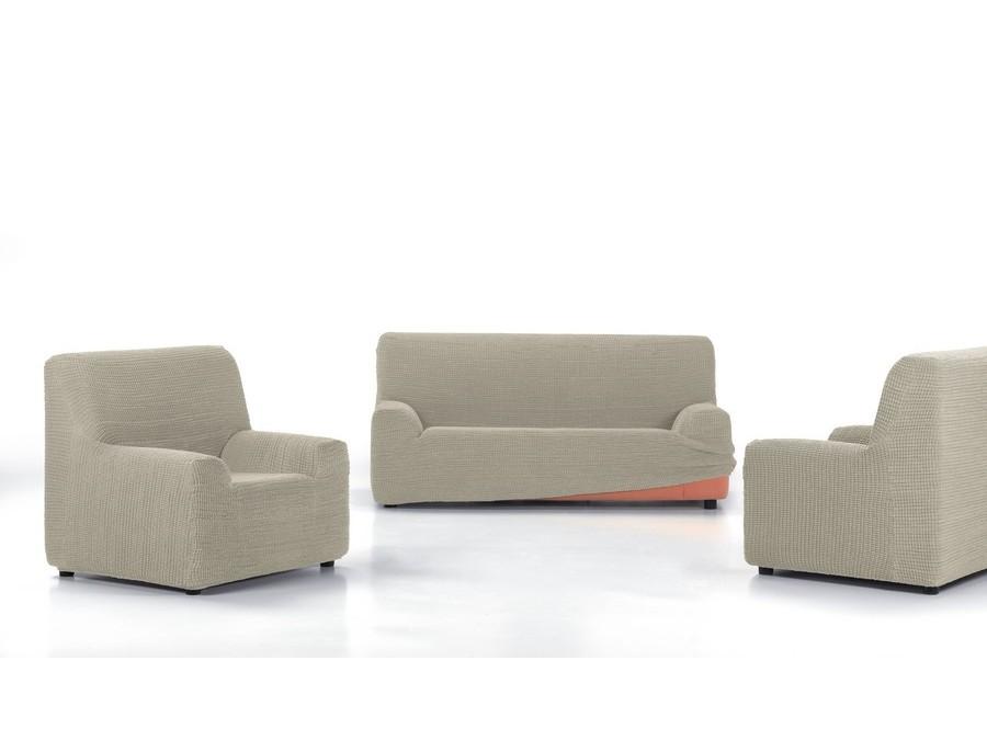 Funda sof super el stica glamour nueva textura - Fundas de sofa ajustables ...