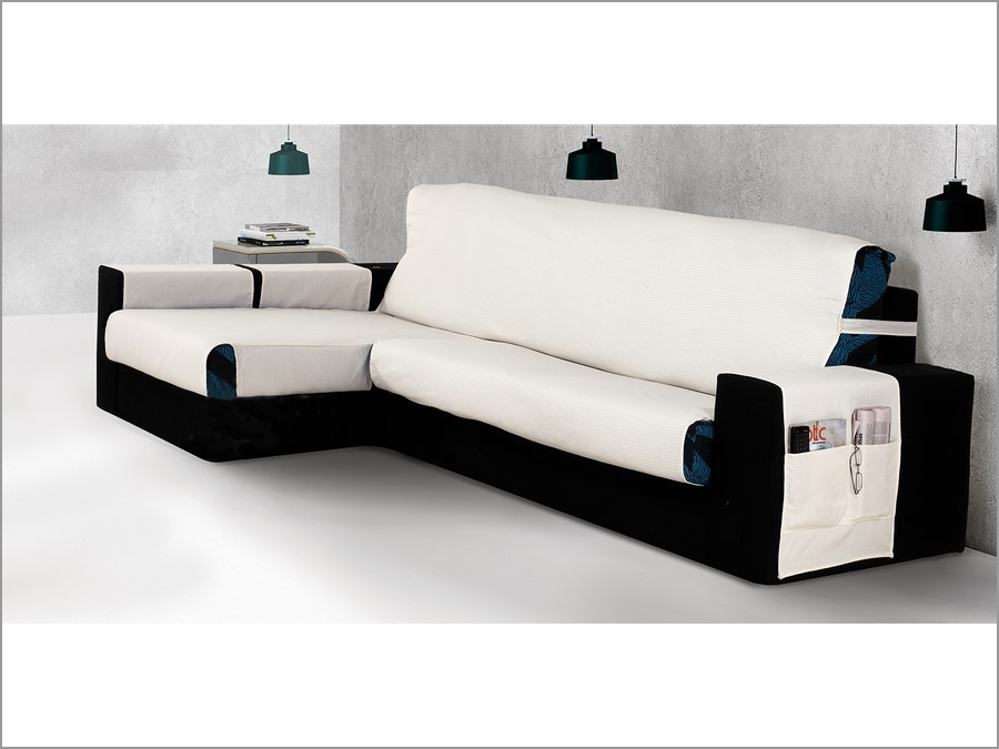 Funda cubre sofa chaise longue belmarti praga - Funda de sofa chaise longue ...