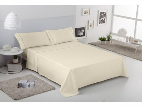 Juego sábanas Estela Lisos Biés 100% algodón (144 hilos)