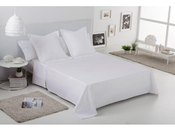 Juego de sábanas Estelia Liso Biés 100% algodón (200 hilos)