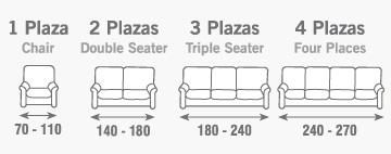 Funda sof multiel stica willow fundas sofa nueva textura - Medidas sofa 3 plazas ...